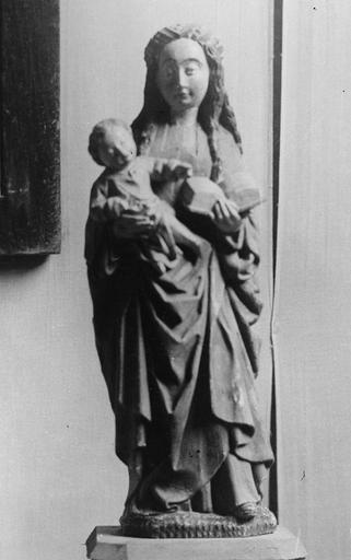 Statue : Vierge à l'Enfant, bois polychrome, fin 15e siècle