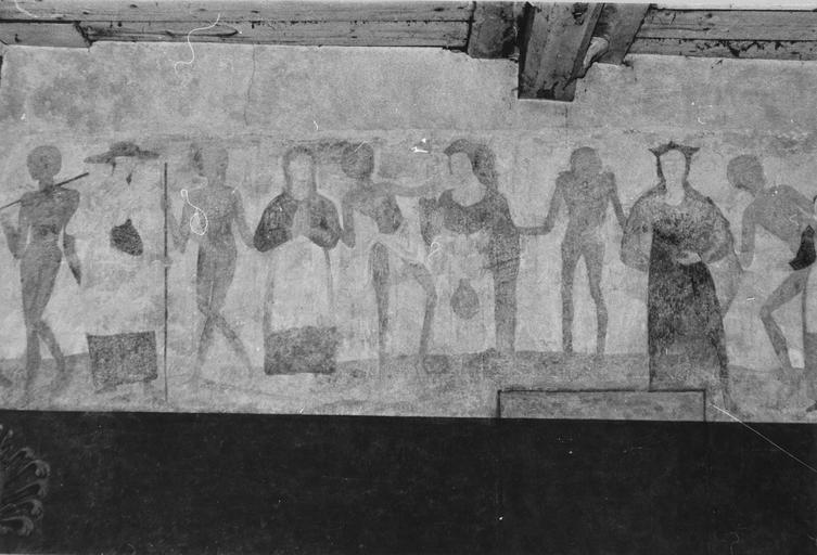 Peinture monumentale : Danse macabre, mur Nord
