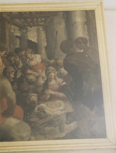 Tableau : L' Adoration des bergers, huile sur toile