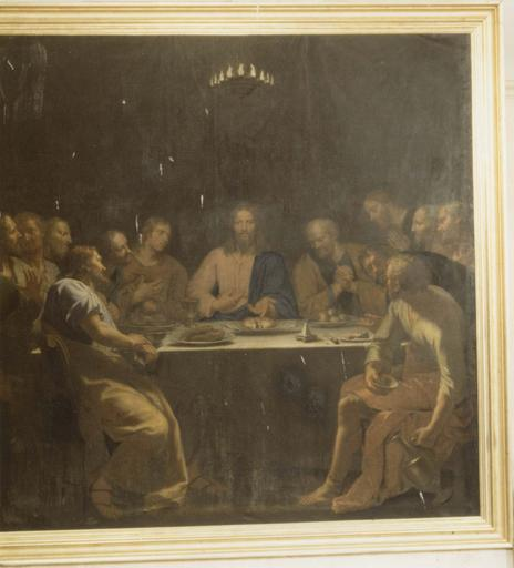Tableau : La Cène, huile sur toile