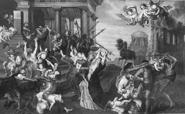 Tableau : le Massacre des Innocents, huile sur toile