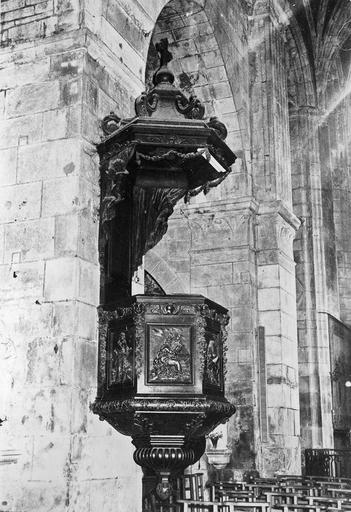 Chaire à prêcher, bois, 1900