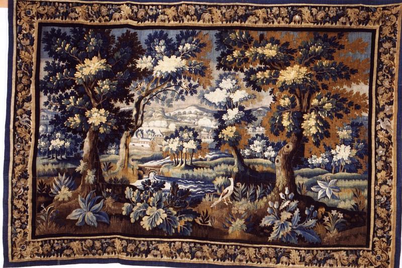 5 pièces murales : tenture aux montagnes neigeuses (numéros d'inventaire : GHC 304, 371, 414, 415, 416)