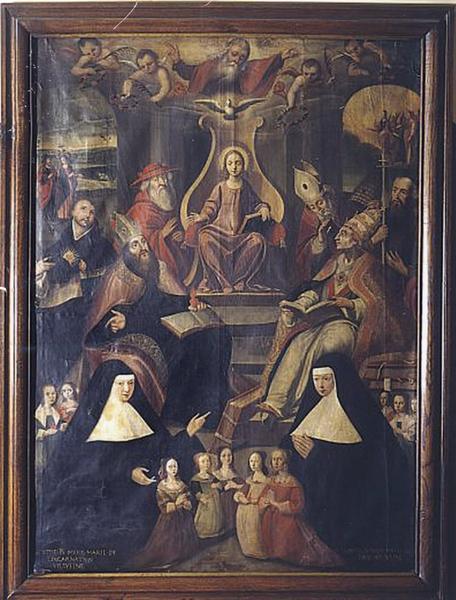 Tableau : l'Enfant Jésus entouré de six saints et deux ursulines (numéro d'inventaire : 87 GHC 0066)