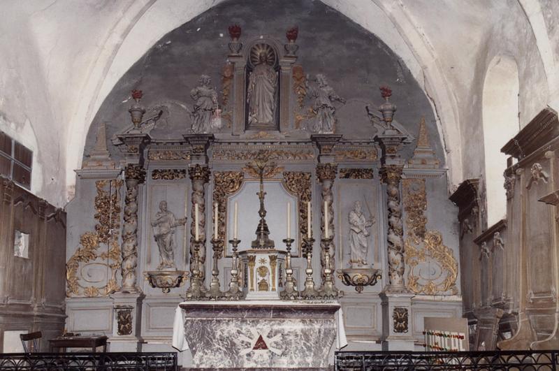 Retable du maître-autel et son tabernacle
