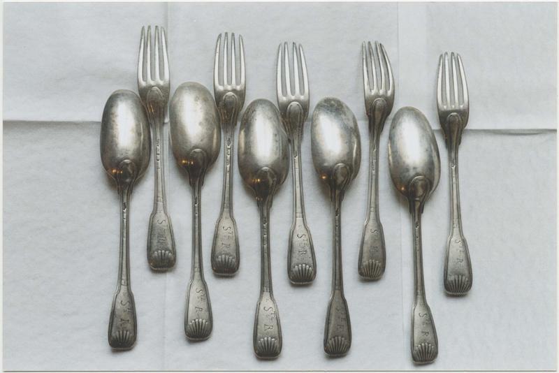 Ensemble de 5 cuillers et 5 fourchettes