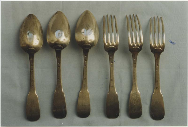 Ensemble de 3 cuillers et 3 fourchettes