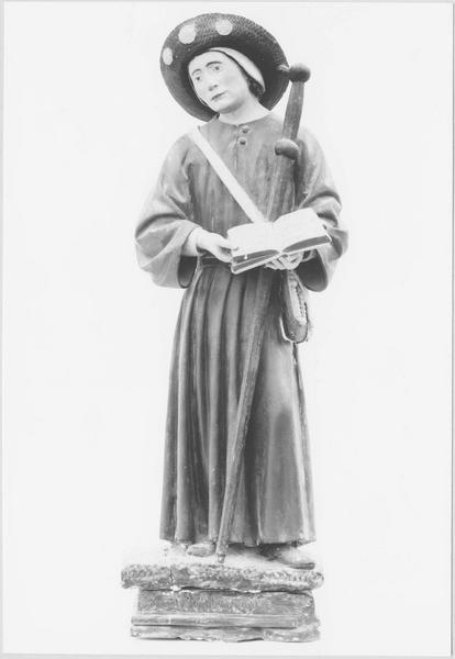 2 statues : saint Gervais et saint Protais