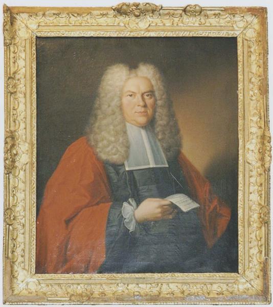 Tableau et son cadre : portrait du président Hector-Bernard Pouffier
