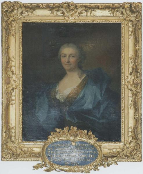 Tableau et son cadre : portrait d'Henriette de Loriol