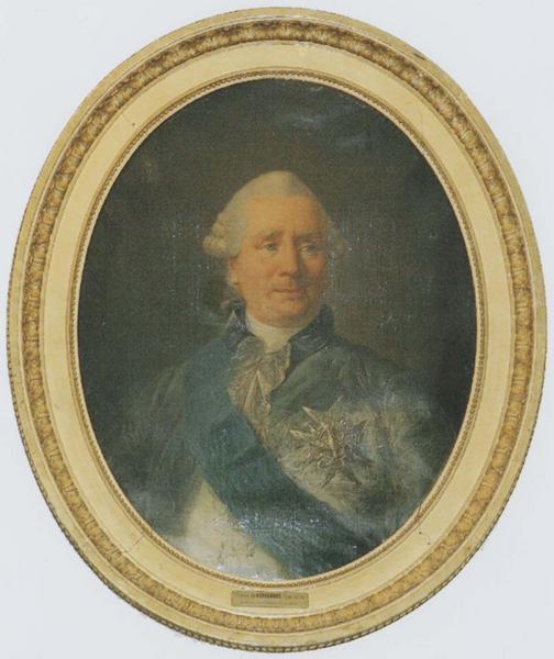 Tableau et son cadre : portrait de Charles Gravier de Vergennes