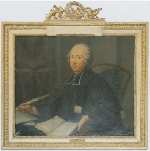 Tableau et son cadre : portrait du docteur Hugues Maret