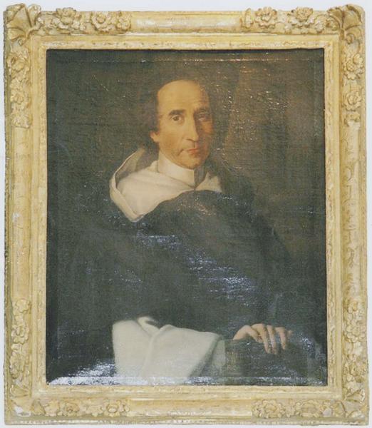 Tableau et son cadre : portrait du Père Joly