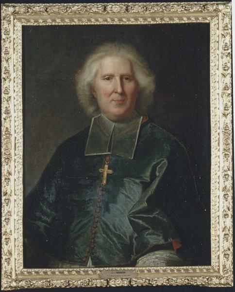 Tableau et son cadre : portrait de Mgr Jean Bouhier, évêque de Dijon