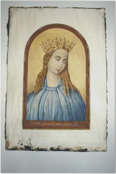 2 peintures (gouaches) : Philippe le Bon et Isabelle de Portugal