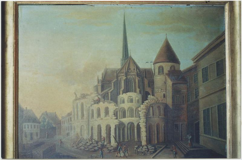 Tableau : la Démolition de la rotonde de Saint-Bénigne en avril 1792