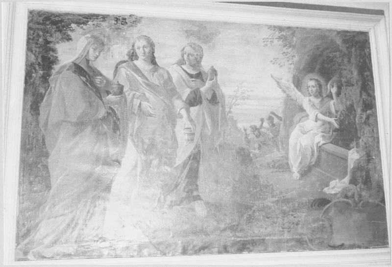 tableau : Saintes femmes au tombeau, vue générale