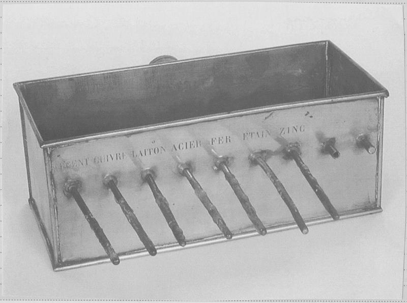 Instrument de démonstration en thermodynamique dit appareil d'Ingenhousz