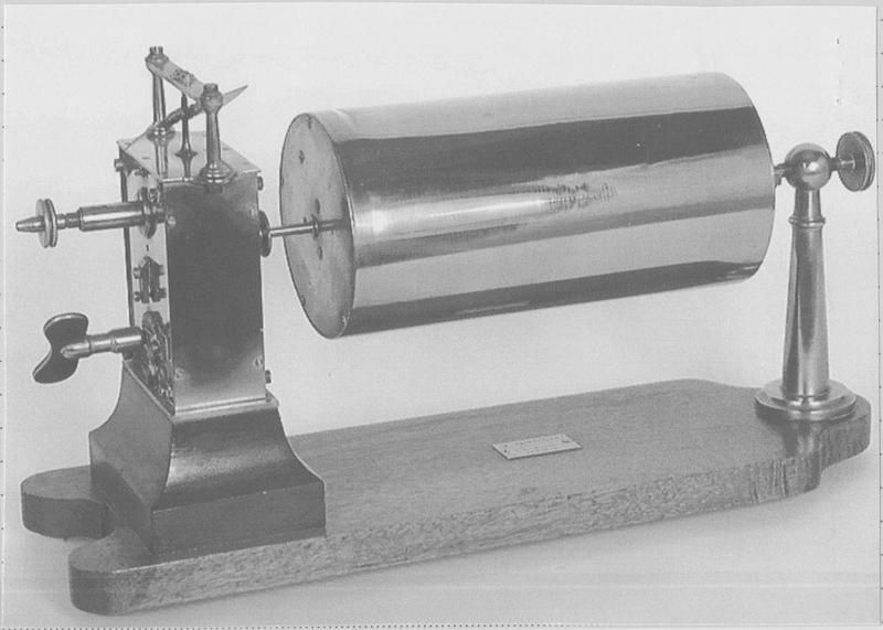 Instrument de mesure des phénomènes ondulatoires mécaniques : cylindre enregistreur