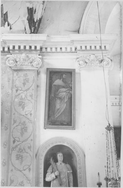 2 tableaux en pendant : saint Joseph et saint Jean-Baptiste