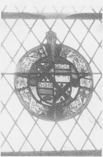Verrière de la baie 3 : Armoiries de Michel Boudet