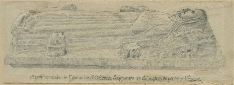 Monument funéraire d'une dame de Salmaise (gisant), vue générale