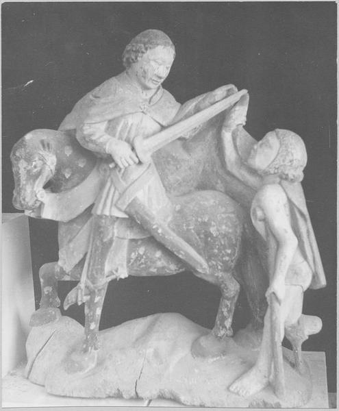 Groupe sculpté : la Charité de saint Martin, vue générale
