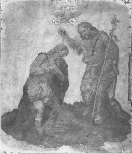 Tableau : le Baptême du Christ, vue générale