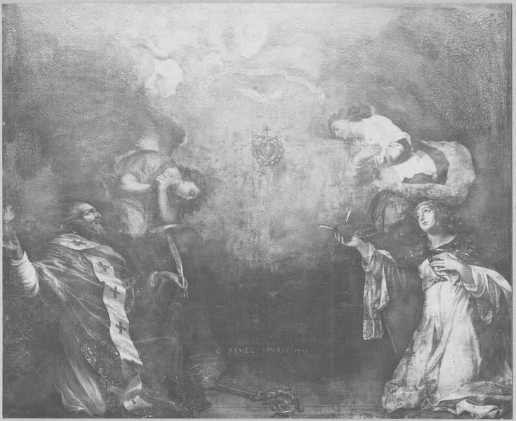 Tableau : l'Adoration du Sacré-Coeur, vue générale