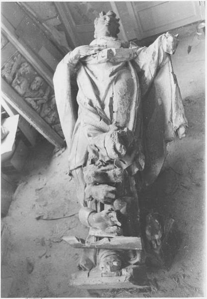 Statue : saint Augustin, vue générale