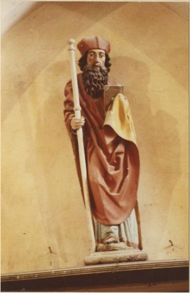 Statue : saint Césaire, vue générale