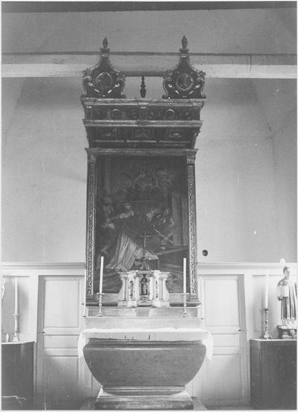 Tableau : le Martyre de saint Laurent, vue générale