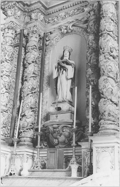Statue: sainte Gertrude, vue générale