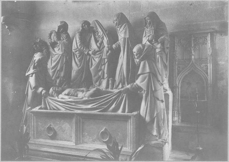 Groupe sculpté : Mise au tombeau, vue générale