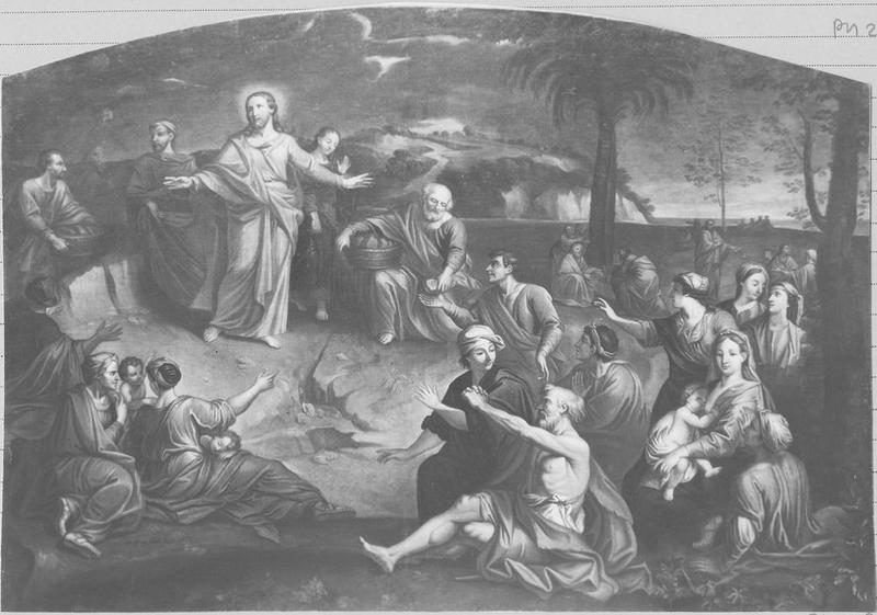 Tableau : le Sermon sur la montagne, vue générale