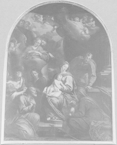 Tableau : l'Adoration des bergers, vue générale