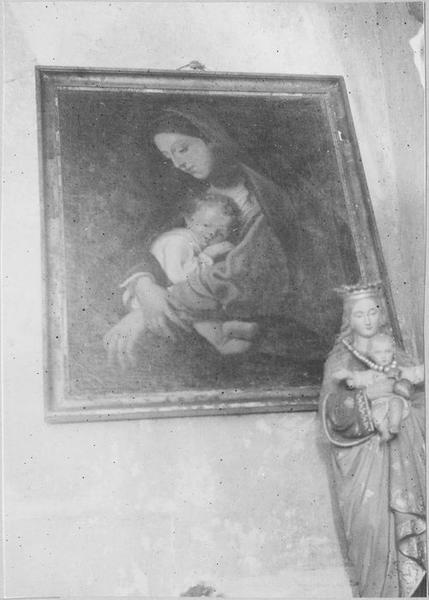 Tableau : la Vierge à l'Enfant, vue générale