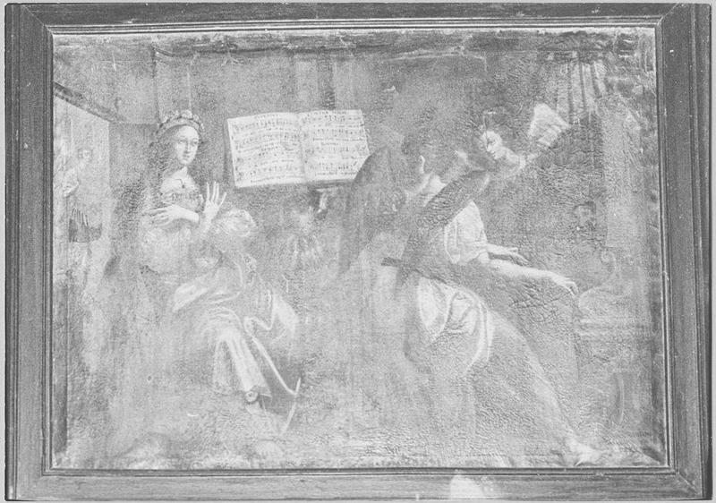 Tableau : sainte Cécile et les anges musiciens, vue générale