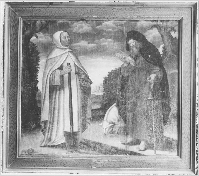 Tableau : saint Paul ermite et saint Antoine abbé, vue générale