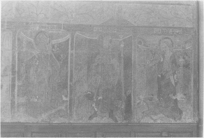 Peinture monumentale, mur sud, vue partielle