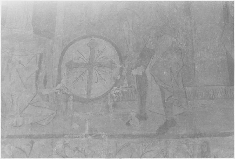Peinture monumentale, mur sud, détail