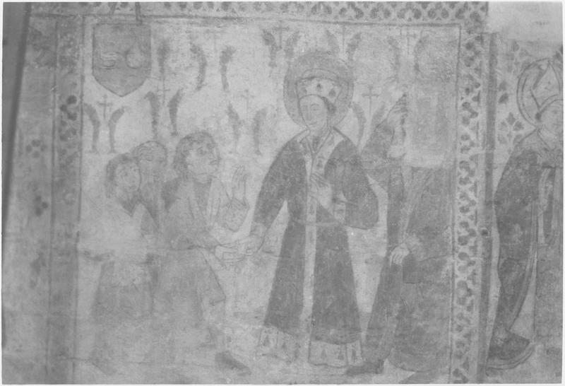 Peinture monumentale, mur nord, détail