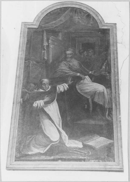 Tableau : la Confirmation des statuts de l'ordre des Dominicains par le pape Honorius III, vue générale