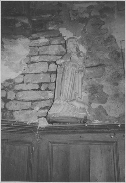 Groupe sculpté : saint Antoine de Padoue, vue générale