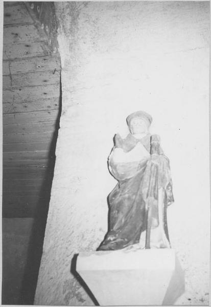 Statue : saint Blaise, vue générale