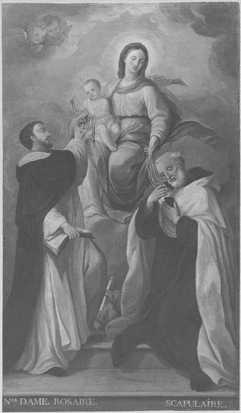 Tableau: Remise du rosaire, vue générale