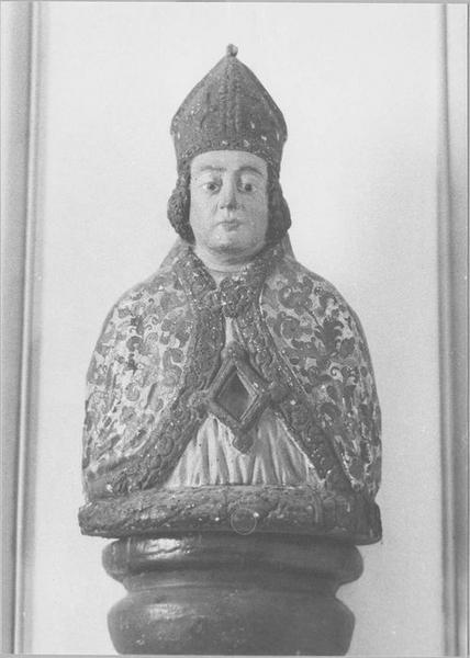 Buste-reliquaire: évêque non identifié, vue générale