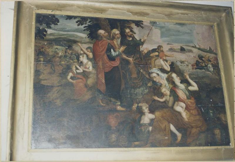 Tableau : Moïse et les Amalécites, vue générale