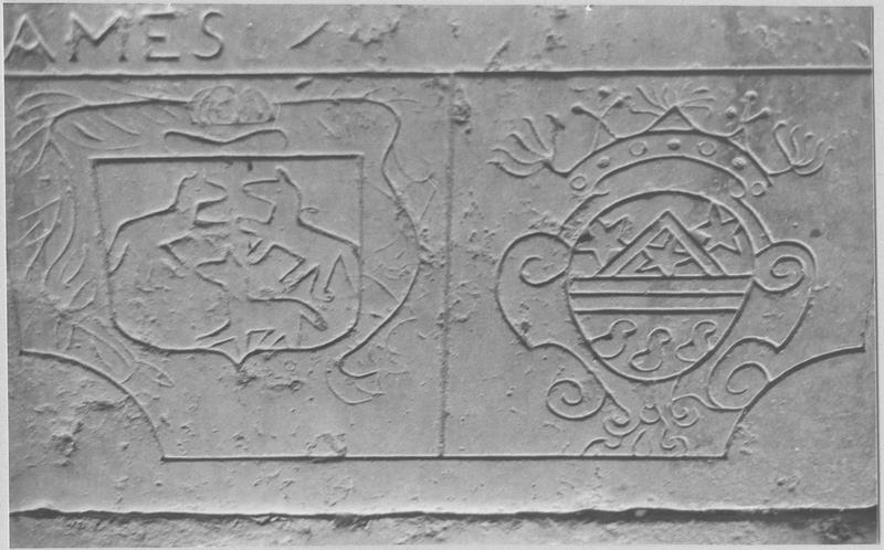 Dalle funéraire de François Le Belin et de sa femme, détail