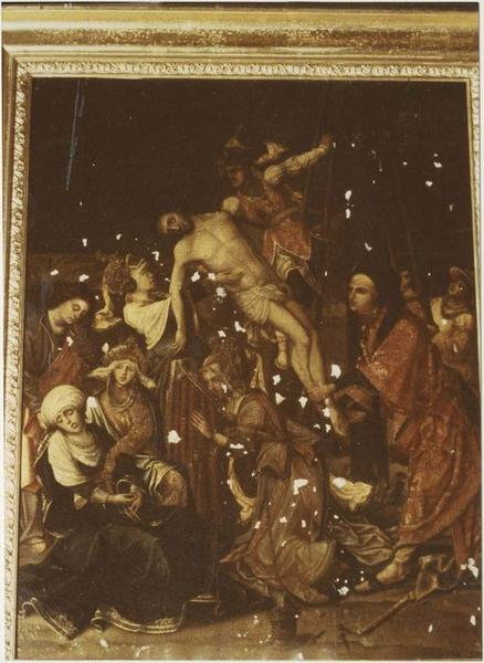 tableau : la Descente de Croix, vue générale